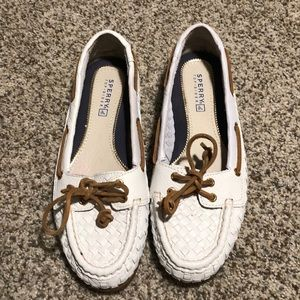 Sperry Audrey Woven Boat Shoes